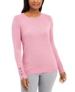 MSRP $20 Maison Jules Striped Sweater Pink Size Medium