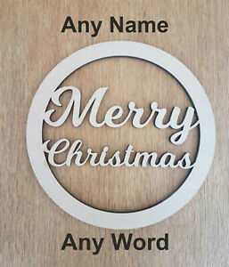Circle Plaque ANY NAME WORD Happy Birthday Personalised wooden hoop