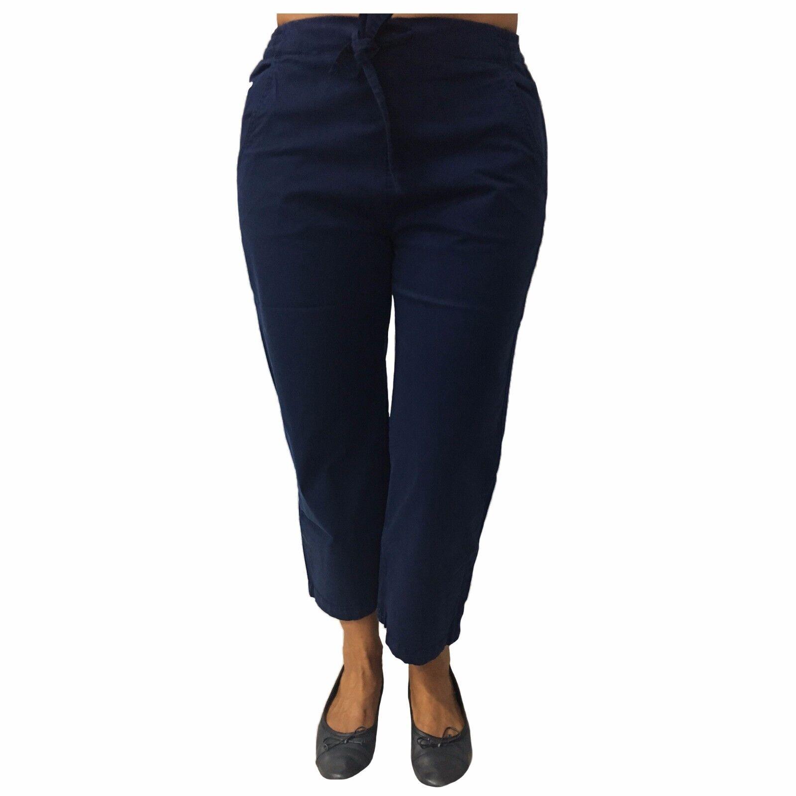 LE PHARE DE LA BALEINE women's trousers bluee ink mod BAF38406 97% cotton