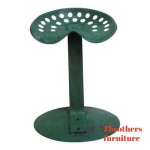 Antique-Industrial-Custom-Made-Tractor-Seat-Bar-Stool-E