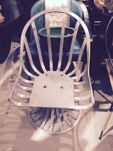 Rare-aluminum-Russell-Woodard-chair