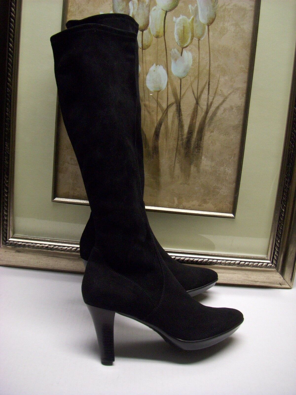 Aquatalia by Marvin K Rhumba Weatherproof SUEDE Boot Size 10 M $725 Black