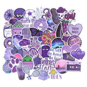 50Pcs-Cartoon-Purple-Stickers-DIY-Suitcase-Laptop-Guitar-Bicycle-Car-Decals
