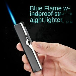 Gas-Cigarette-Lighter-Inflatable-Windproof-Straight-Cigarette-Lacquer-Metal-Kits