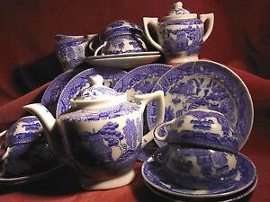 Dinette Ancienne Porcelaine Bleu De Chine Style Kangxi Compagnie Des Indes