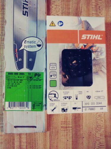 "STIHL 12/"" Bar and Chain 55 Link Combo 3005-000-3905 3610-005-0044"
