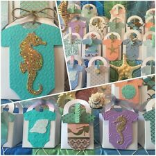 Mermaid Seahorse Under The Sea 1st Birthday Party Thank You favor boxes