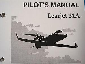 bombardier learjet 31a pilot s manual ebay rh ebay com Learjet 45 Cockpit Learjet 45 Cockpit