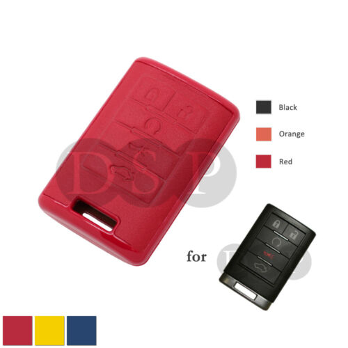 Genuine Leather Cover fit for CADILLAC ATS SRX STS Smart Remote Key Case RD