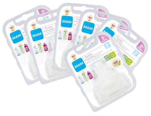 M Flux Baby 2 Per Pack-Pack de 6 MAM Soft tétine Medium 2