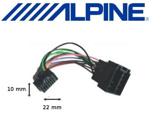 Cable ISO for head unit ALPINE CDE-126BT CDE-131R CDE-133BT CDE-134BT CDE-135BT