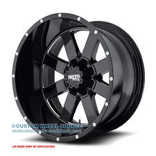 "20"" Moto Metal 962 Black Rims FreePasser 33X12.50R20 Off Road Wheels and Tires"