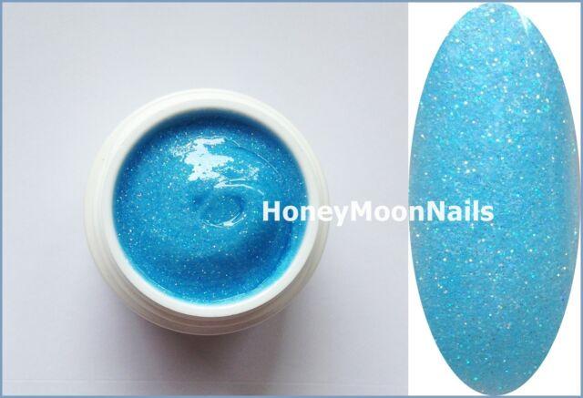 5ml UV Glitter Gel IRISE NEON BLAU top Studioqualität