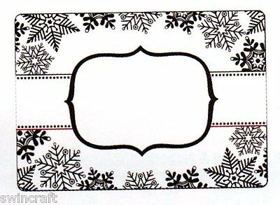 Crafts Too Embossing Folder 10.5cm x 15cm - SNOWFLAKE BANNER - CTFD4012