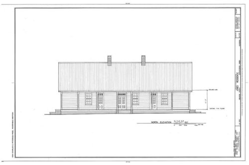 Creole country house spacious 3 bedrooms porch architectural plans PDF file