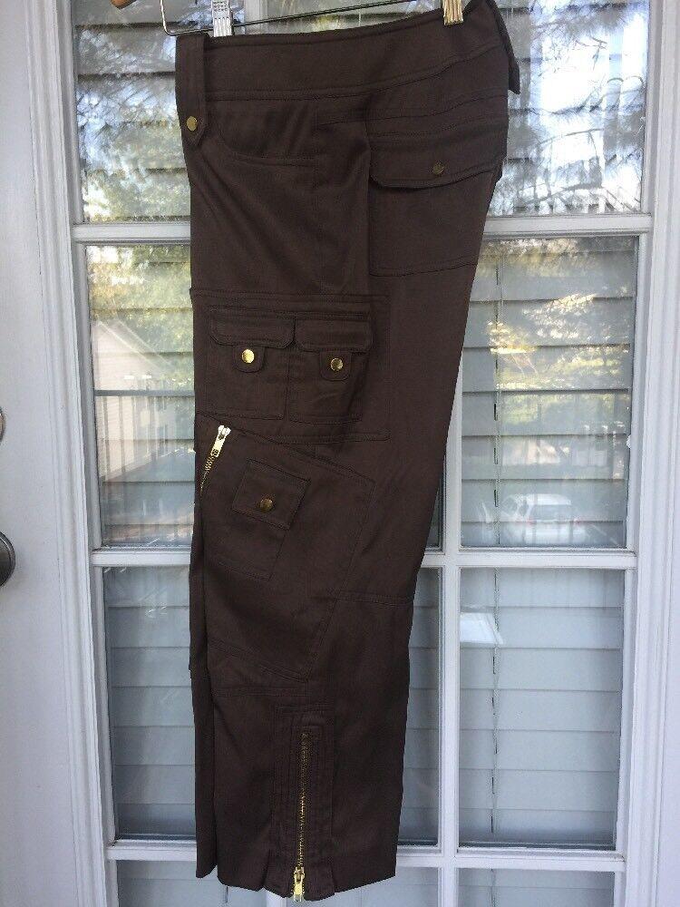 Cache BROWN Cargo Crop Pants - Size 0