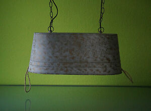 ... Deckenleuchte Wohnzimmerlampe Kuechenlampe Im Modernen Landhausstil  Zinkwanne