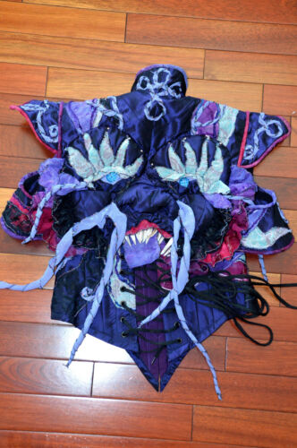 OOAK Custom Corset Top Dragon Halloween Sz XS Bone
