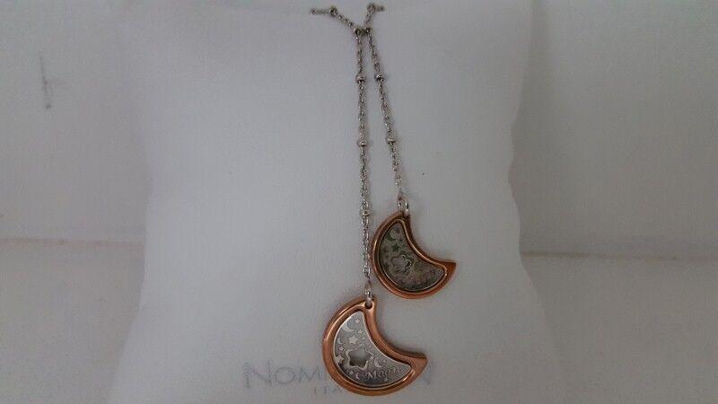 Collana Nomination Acciaio Collezione Incanto Lune argentoo 925 bianco e e e rosè e431d2