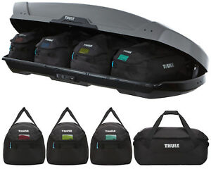 15f15cdf90d Thule 800603 Go Pack Set of 4 Holdall   Roof Box Cargo Carry Bags   eBay