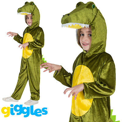 Girls & Boys Crocodile Costume World Book Day Week Fancy Dress Outfit Jumpsuit