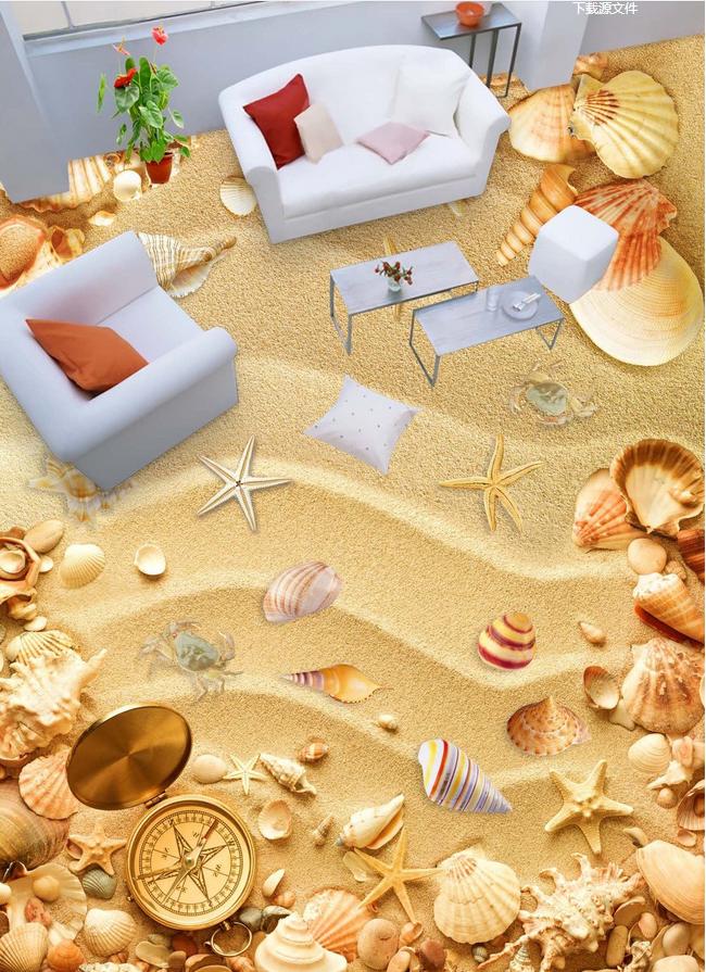 3D Strand 541  Fototapeten Wandbild Fototapete Tapete Familie DE Lemon