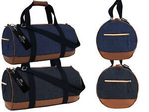 Canvas Travel Holdall Duffle Weekend Duffel Denim Jeans Cloth Bag ...
