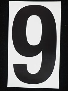 """1 Sets 0-9 5/"""" Stickers Vinyl Adhesive Address Numbers Black /& White MADE USA"""