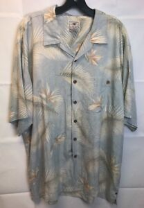 LUAU-100-FINEST-SILK-Floral-DESIGN-Coconut-Buttons-HAWAIIAN-SHIRT-X-Large-XL