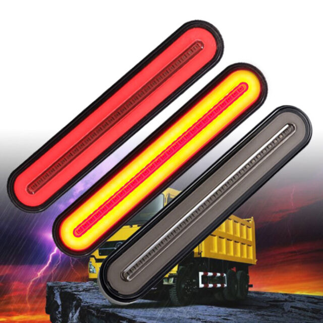 100-LED Flowing Reverse Brake Turn Signal Rear Tail Light Car Truck Trail-^ji