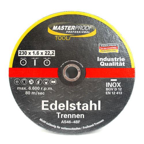 Masterproof INOX Trennscheiben Flexscheiben Set 230 x 1.6 x 22,2 3 Stück