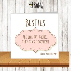 Image Is Loading Funny Cute Sarcastic Banter Birthday Card Best Friend