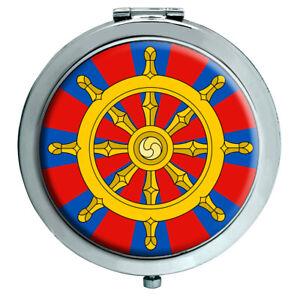 Dharmacakra Wheel Of Dharma Buddhismus Kompakter Spiegel
