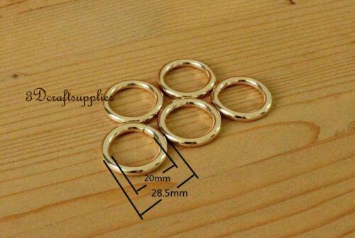 Metal O Anneaux O-Ring Sac à Main Anneau Connecteur Light Gold 19 mm 3//4 pouces 14pcs P89