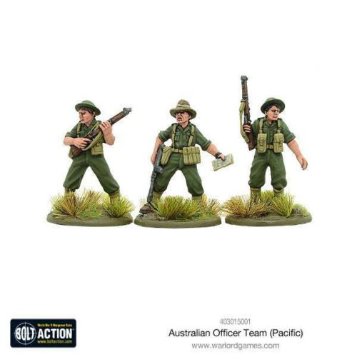 WWII Command HQ Warlord Pacific Bolt Action 403015001 Australian Officer Team