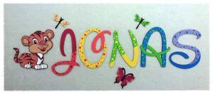 Details zu ⭐️ Holz Buchstaben 10cm, ❤️ Kinderzimmer Tür Name Dekoration  Baby Kinder ⭐️