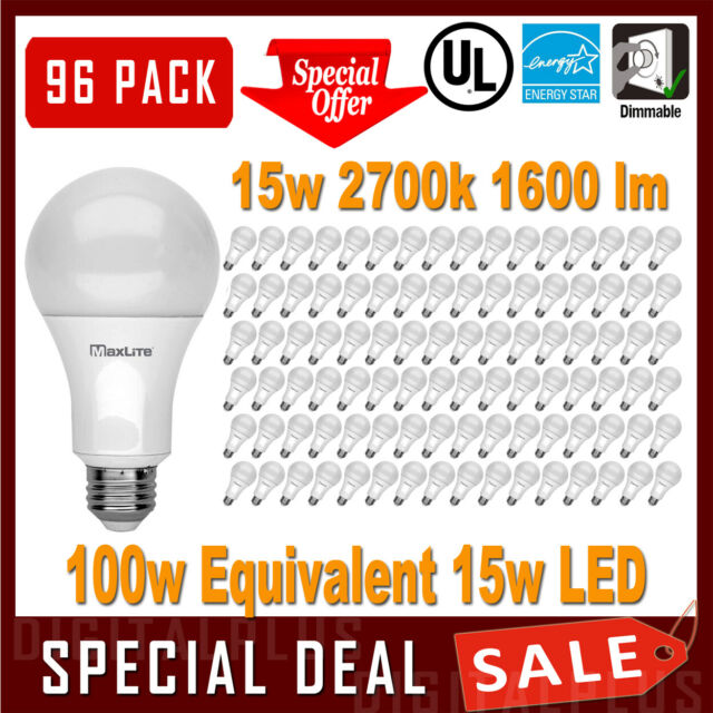 2700K 2pack 40W 93CRI Equivalent Soft White A19 Dimmable LED Light Bulb