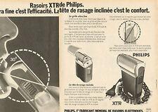 Publicité 1964  (Double page)  Rasoir XTR de PHILIPS rasoir électrique