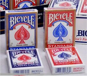6 Red /& 6 Blue casino Poker game Holiday Fun 12 Pack Bicycle Playing Cards