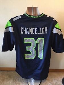 Nike On-Field Seattle Seahawks #31 Cam Chancellor NFL Jersey Men's -Size Large