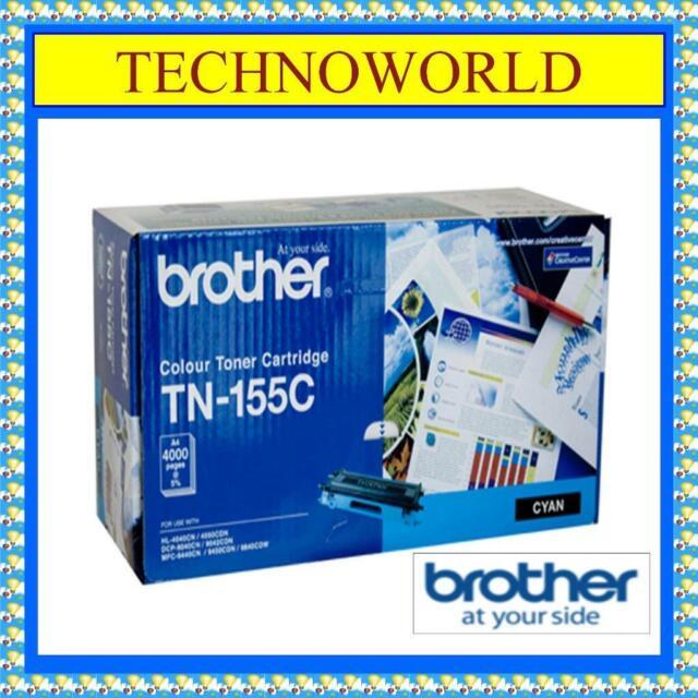 GENUINE BROTHER COLOUR LASER TONER CARTRIDGE◉TN-155C◉CYAN◉HL-4050CDN◉DCP-9040CN