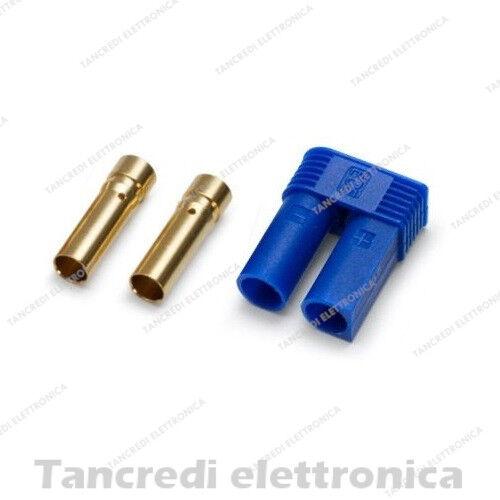 Connettore EC5 Presa Femmina Batterie LiPo LiFe droni Modellismo 3.5mm oro