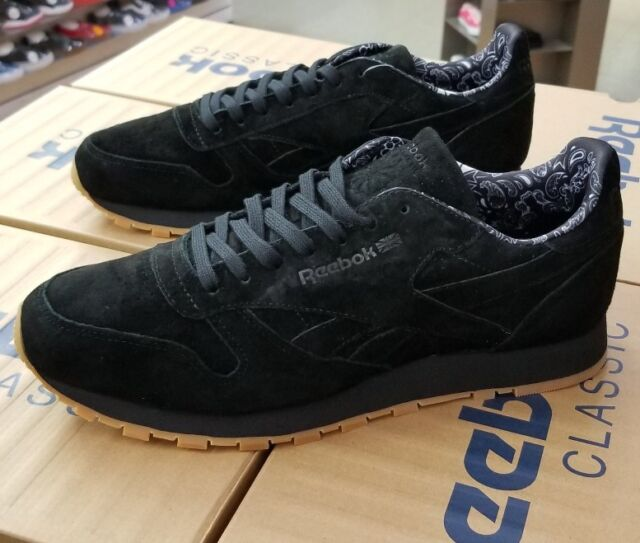 39d973bb8e30 Frequently bought together. REEBOK CLASSIC LEATHER TDC PAISLEY SUEDE BD  3230 BLACK WHITE-GUM ...