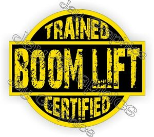 Boom Lift Trained Certified Hard Hat Sticker | Decal | Helmet Label CAT Operator