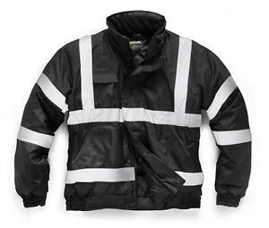 STANDSAFE-HIGH-VIS-SECURITY-BOMBER-WORKWEAR-JACKET-BLACK-HV016
