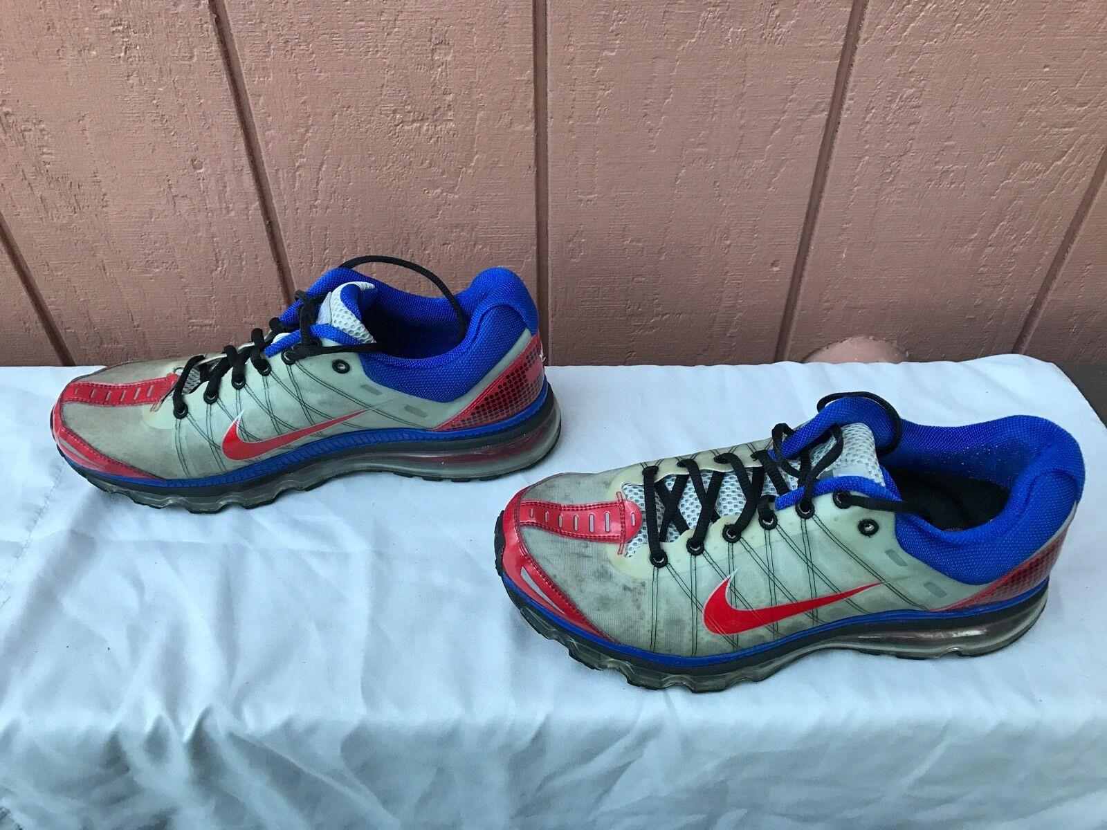 RARE NIKEiD Men's Airmax Gray US Running Sneakers US Gray 10.5 05355f