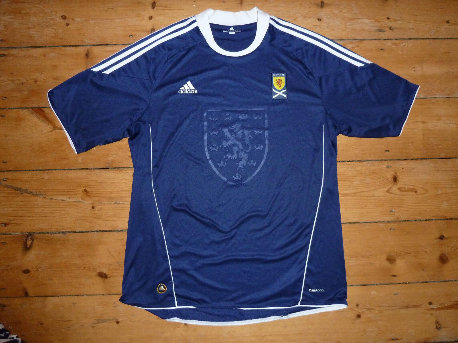 Adulto 3XL Scozia Maglia da Calcio Scozzese Adidas 2010 Alba