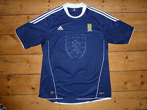 9c6be54c3 Image is loading large-SCOTLAND-football-SHIRT-Scottish-Soccer-Adidas-Jersey -