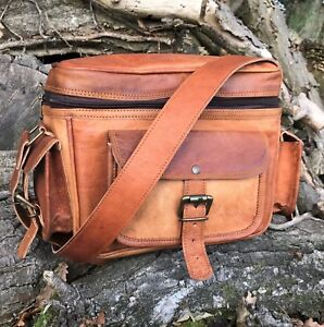 HAND-MADE-LEATHER-DSLR-CAMERA-BAG-LENS-CASE-SHOULDER-BAG-SATCHEL-RUSTIC-RETRO