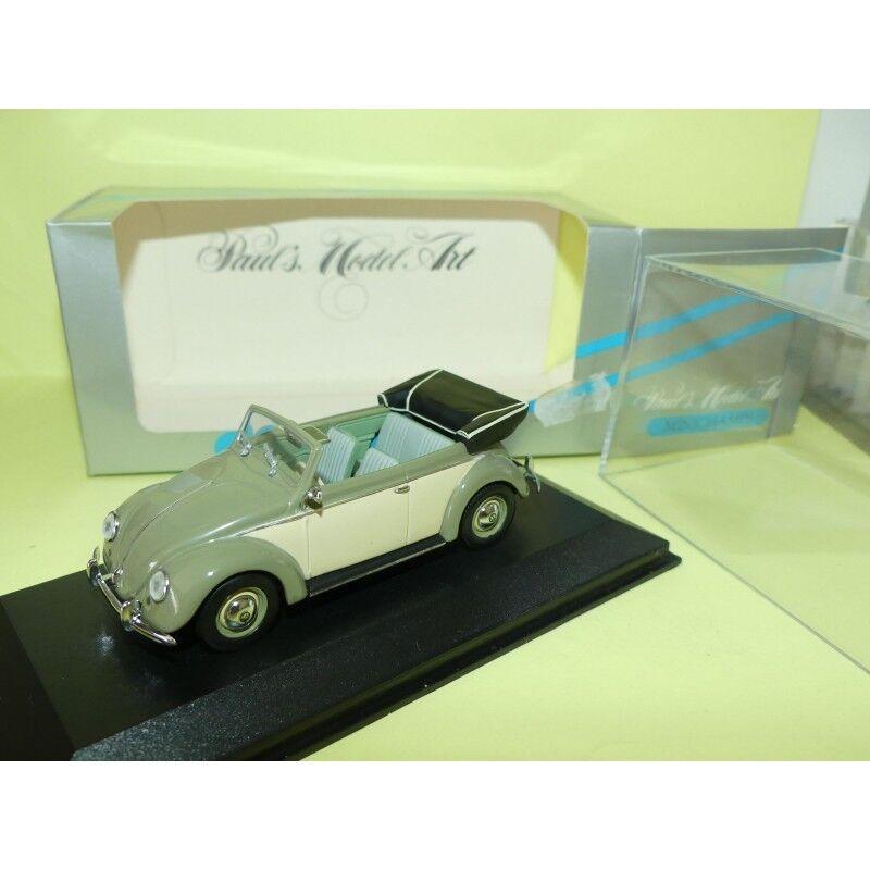 VW COCCINELLE 1200 CABRIOLET 1951-1952 green MINICHAMPS 1 1 1 43 b1b7cd